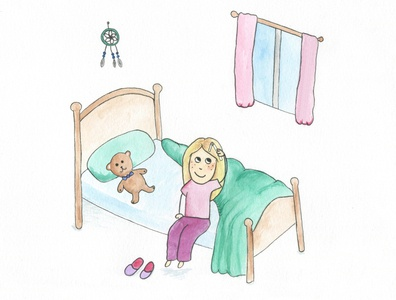 Morning teddybear teddy bedtime childrens illustration childrens book illustration children watercolours watercolor illustration childrens book
