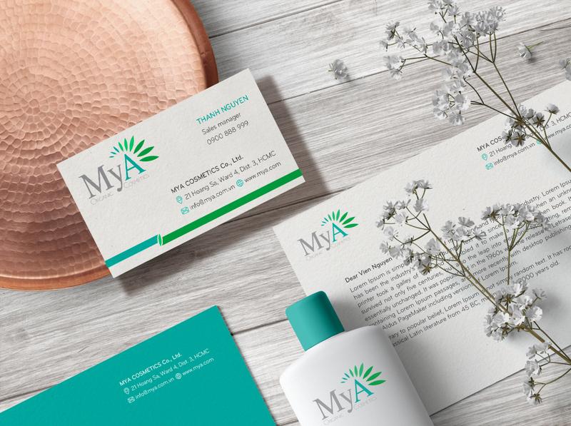 MyA Brand Identity Design m logo natural cosmetic logo cosmetic