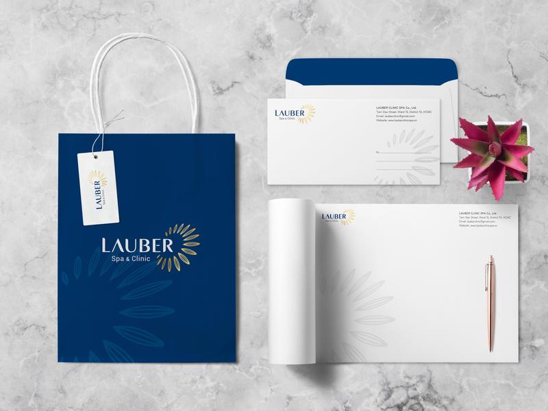Lauber Brand Identity Design simplify natural luxury logo branding