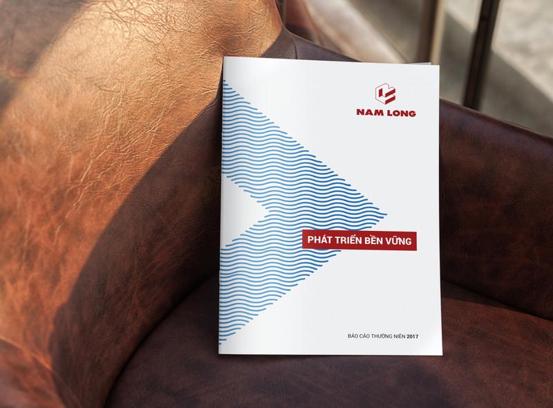 Nam Long Annual Report 2017 Design company profile design illustration annual report layout design lap phuong lap phuong