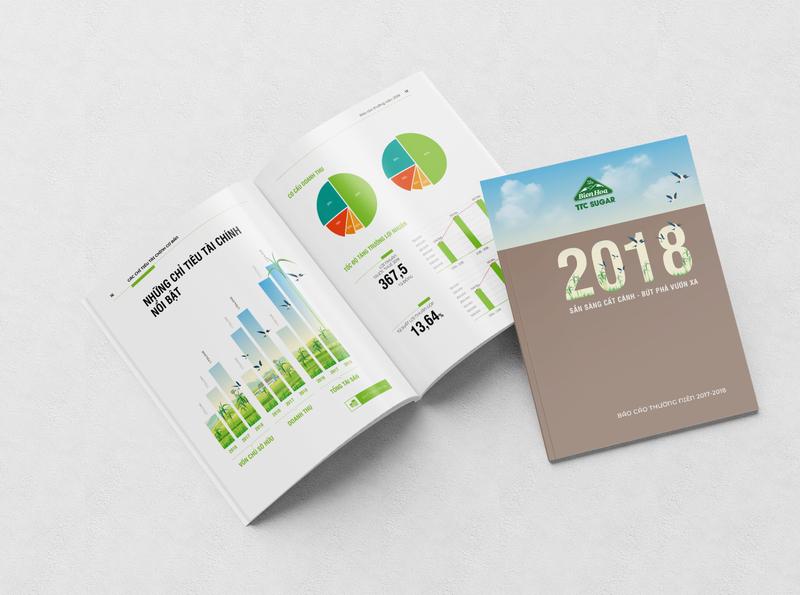 TTC Sugar Annual Report Concept 2018 layout design illustration annual report company profile