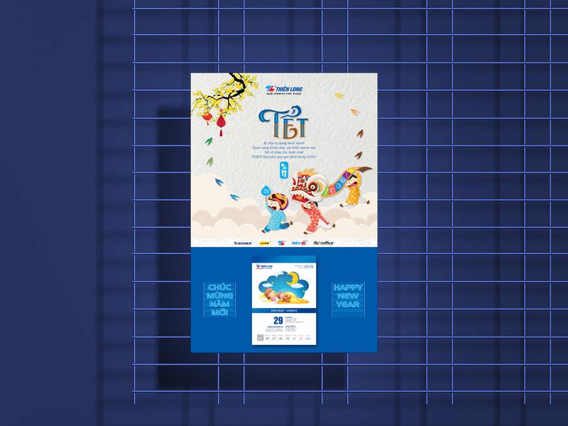 Thien Long Calendar Design illustration calendar childrens illustration