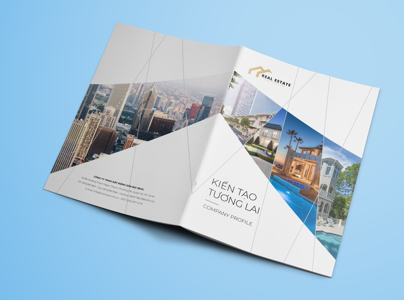 Template Company Profile Real Estate, Construct real estate contruction company profile brochure design annual report