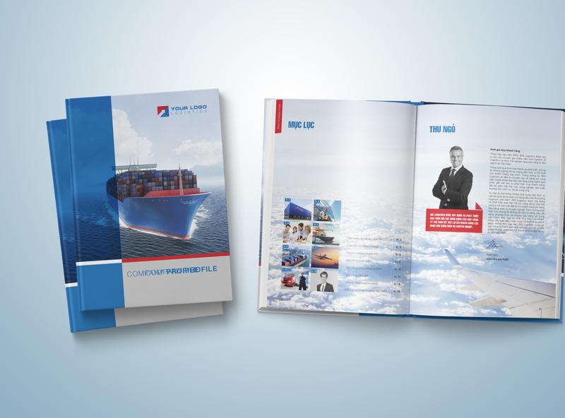 Template Company Profile Logistis, Transport annual report catalog design layout design brochure design company profile