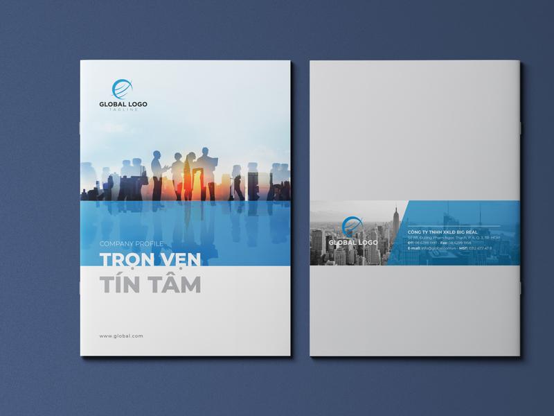 Template Company Profile catalog page brochure design branding layout design annual report company profile design