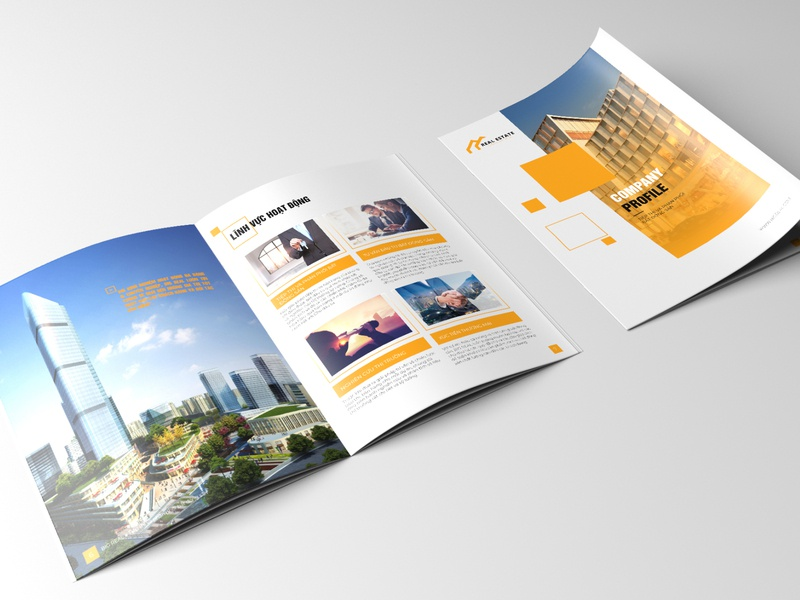 Template Company Profile Real Estate, Construction catalogue design catalog design company profile brochure design layout design annual report company profile design