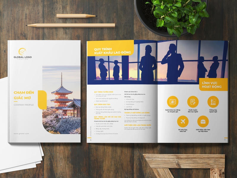Template Company Profile catalogue design catalog design company profile company profile design layout design annual report