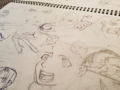 Sketch Of The Day expression faces draw pencil sketch fan art fanart anime