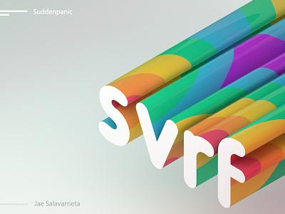 Svrf branding design shape logo rainbow textures typogaphy letters c4d cinema4d 3d