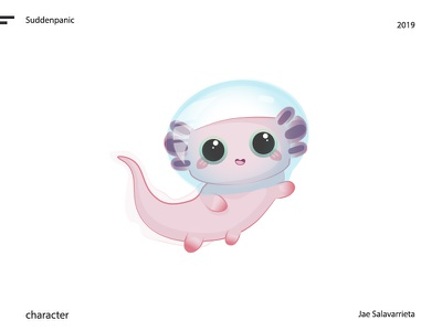 Lilly the Mighty adobe illustrator clean character design concept cute pink underwater animal character vector design illustrator