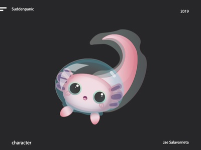 Lilly the Mighty 2 adobe pink cute sea animal character design vector design illustrator