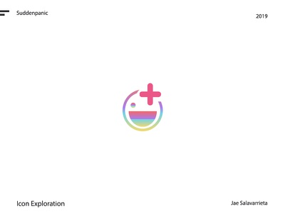 AR face icon happy rainbow shape icon branding design vector ui illustrator