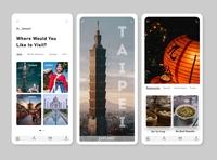 Travel application UI illustrator app design mobile travel ui design