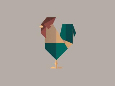 Rooster Illustration Test icon texture illustrator bird logo rooster illustraion