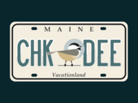 Maine License Plate Warm up