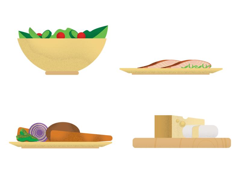 Food icons texture icons wine icons illustraion food illustration veggies cheese salad food