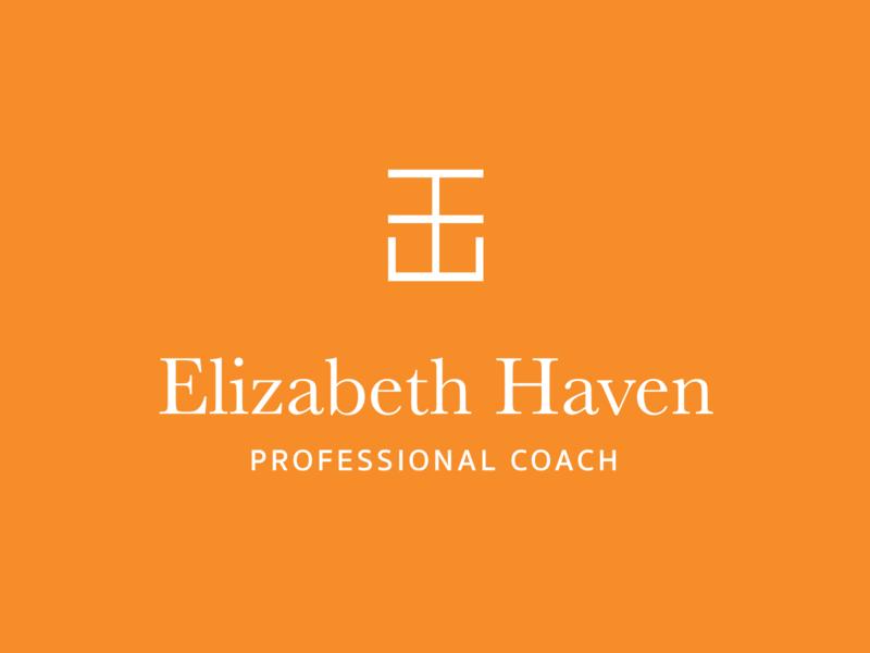 Elizabeth Haven Coach Logo branding and identity design branding monogram coaching coach logo brand