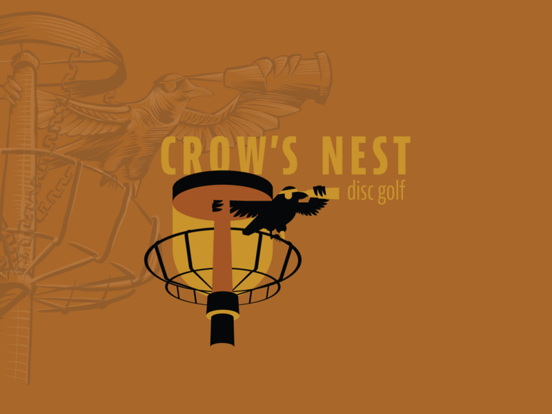 Bird #7 Crow's Nest Disc Golf Branding