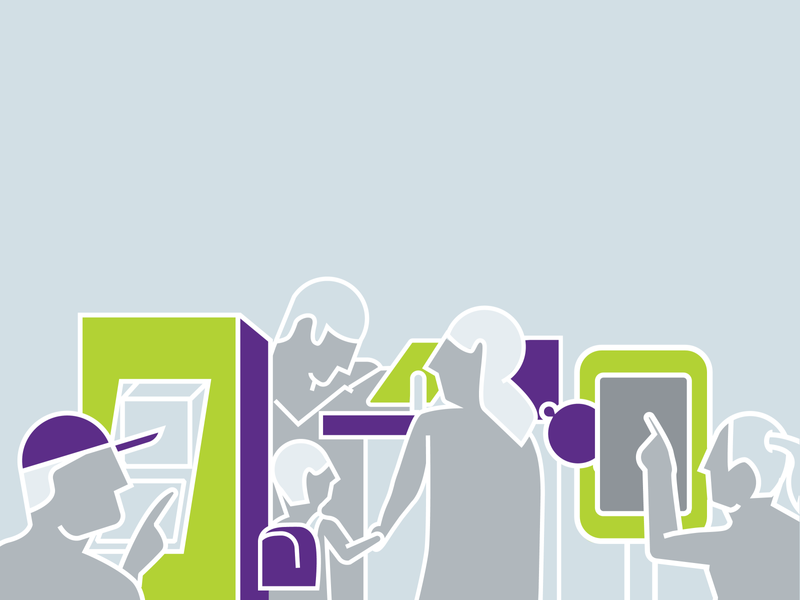 Banking People vector bank touchscreen banking illustration branding design