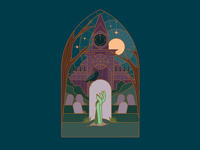 Drawtober - Midnight Feast illustration