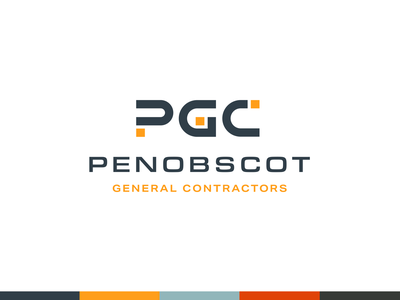 Penobscot Approved Logo contractor maine typography simple blocks logo construction branding