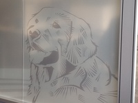 Frosted Graphic Dog Illustration