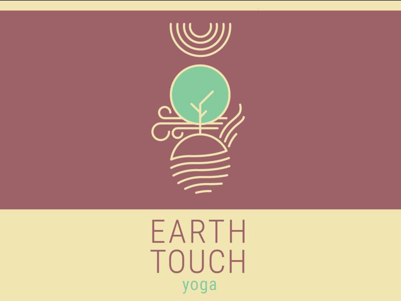 Earth Touch Yoga Logo ayurveda yoga branding branding and identity vector illustration logo design