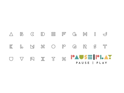 Pause|Play Logo & Font typography branding logo design