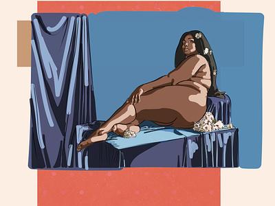 Lizzo digital illustration digital art illustration