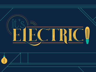 Fleet's It's Electric Logo Concept handletter branding logo typography