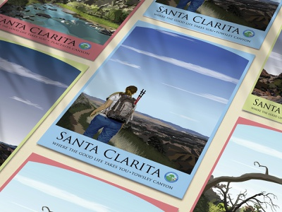 Santa Clarita Tourism Campaign poster art poster design digital illustration digital art illustration