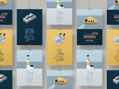 Smooth Sailing Poster poster art handlettering digital illustration digital art illustration typography