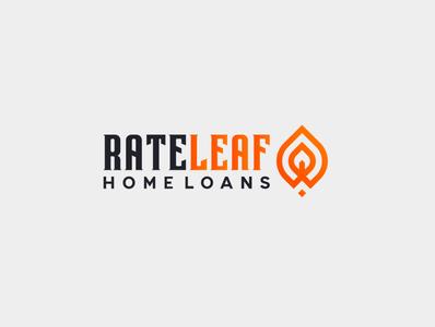 rate leaf flat branding minimal icon design logo illustration