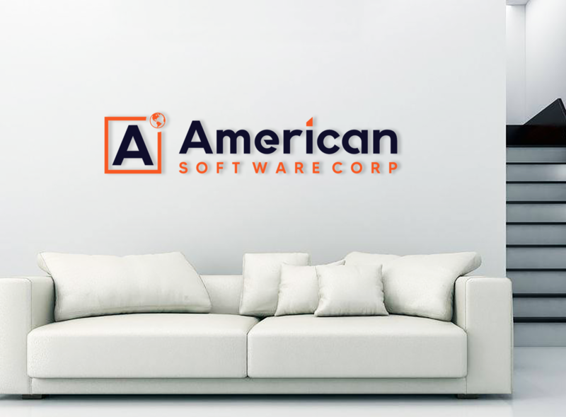 american soft ware corp flat branding minimal icon design logo illustration