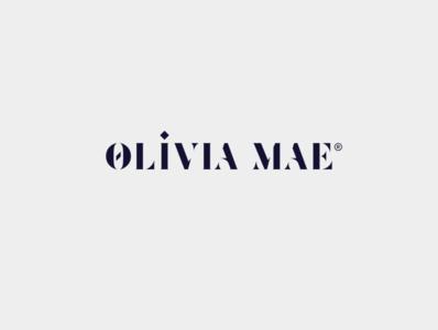 oliviamae typography branding design logo illustration