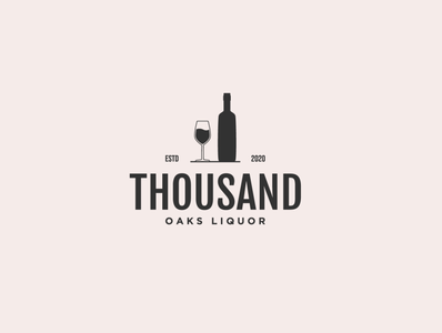 Liquor Shop Logo illustrator flat branding minimal design logo illustration