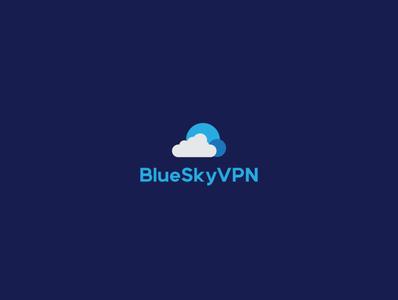 blueskyvpn illustrator branding minimal design logo illustration