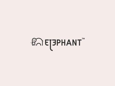elephant graphic design vector illustrator flat branding minimal icon design logo illustration