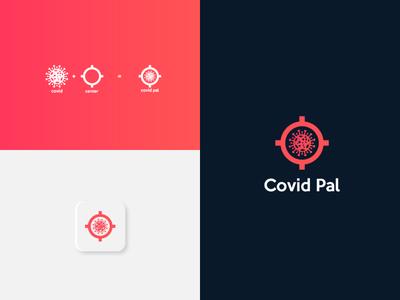 corona app typography vector graphic design illustrator branding minimal icon design logo illustration