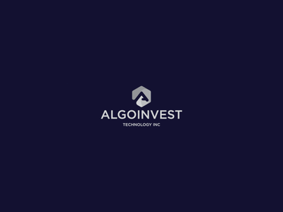 ALGOINVEST typography vector graphic design illustrator flat branding minimal icon design logo illustration