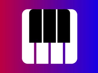 PIANO icon vector identity design branding logo