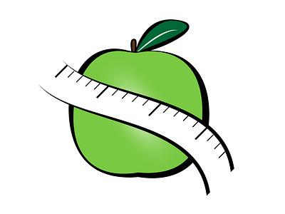Logo dieteticien Apple Weight vector illustration identity branding logo design