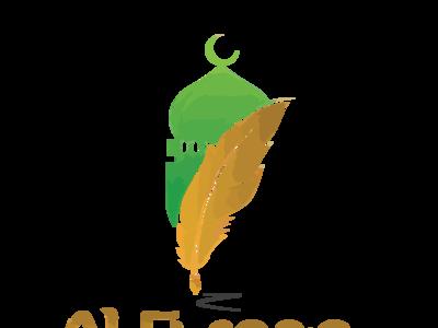 Logo Al Furqan Green flat vector illustrator typography minimal logo design branding