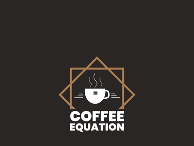 Coffee Equation Logo illustrator flat vector typography minimal logo design branding