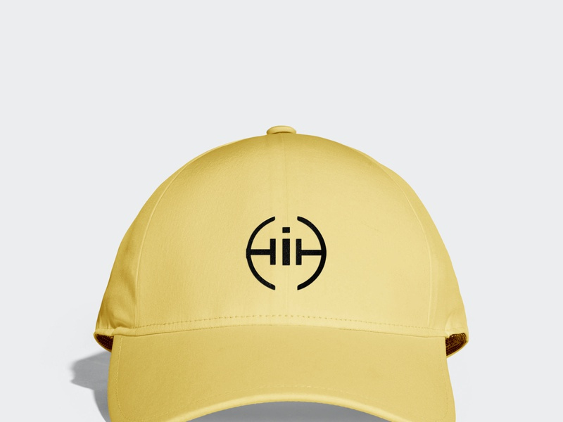 HIH Cap Mock Up ui ux type illustrator flat vector typography minimal logo design branding