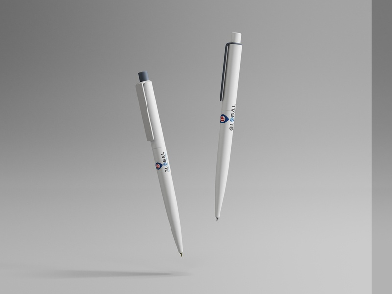 Floating Pens Mockup IPG ux type illustrator flat vector typography minimal logo design branding