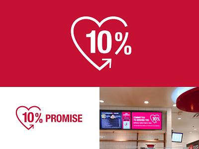 Kum & Go 10% Promise Logo charity convenience brand typogaphy mark icon symbol identity branding logo
