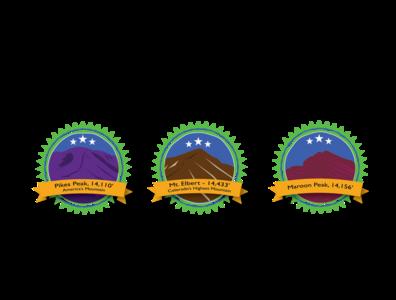 Colorado 14'ers Sticker project vector logo illustration