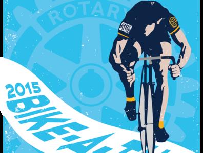 Rotary BIKE A THON  BLUE 11x17 illustrator website vector branding web logo illustration design