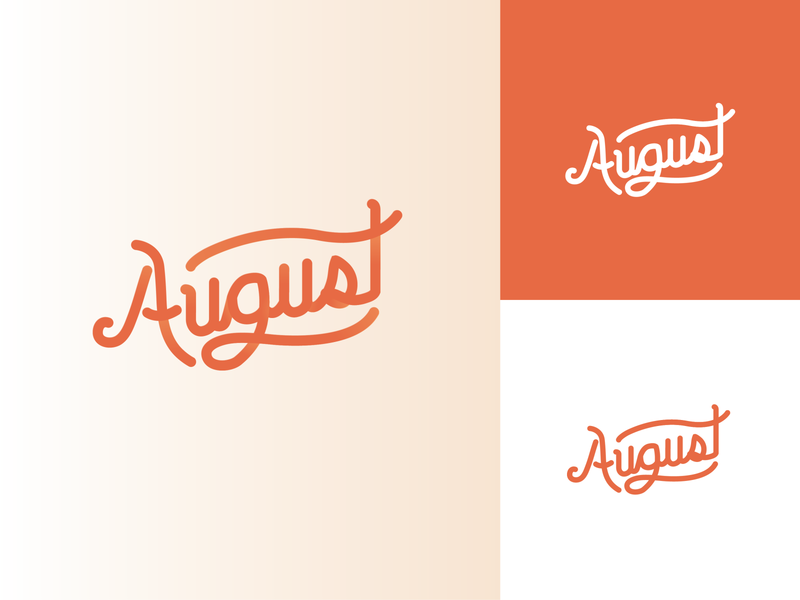 August Logo letter vector design logo dailylogochallenge